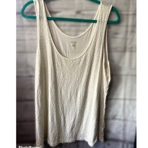 A.n.a XL white sequin tank top solid back